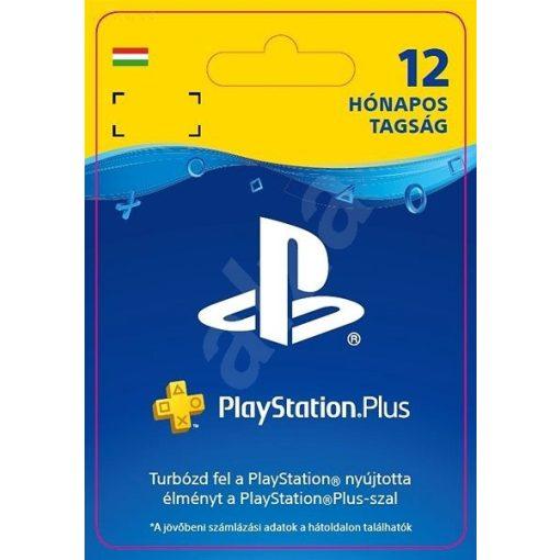12 hónap PSN Plusz feltöltő kártya