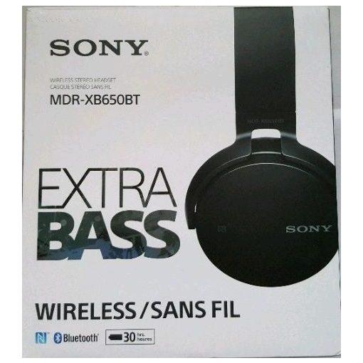 Sony MDR-XB650BT fekete wireless fejhallgató