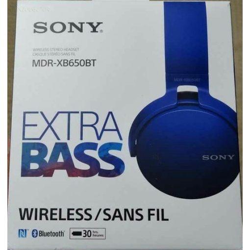 Sony MDR-XB650BT wireless fejhallgató kék