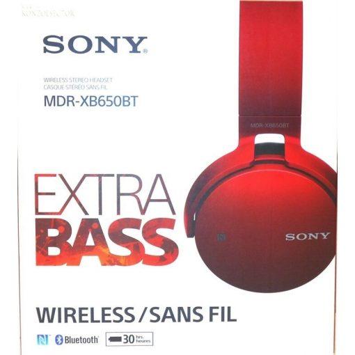 Sony MDR-XB650BT wireless fejhallgató piros