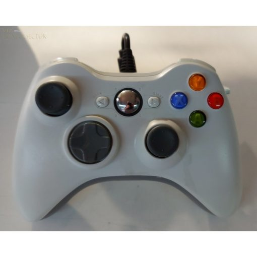 Xbox 360 kompatibilis vezetékes kontroller fehér